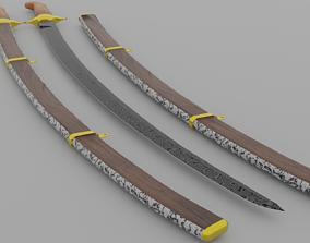 3D asset arabic sword