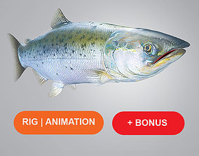 3D model Salmon Plus Animation