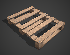3D model Low poly European Wood pallet 04 PBR Game Ready