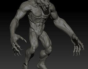 Werewolf zbrush High poly project 3D