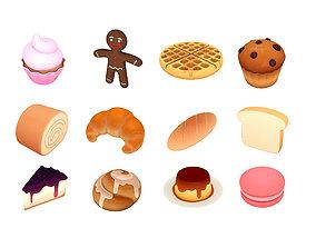 Cartoon Food Pack 3 3D