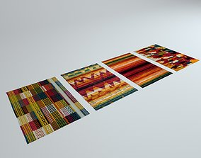 3D asset 4 Colorful Rugs