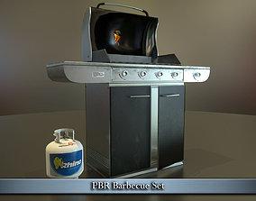 PBR Barbecue Set 3D asset
