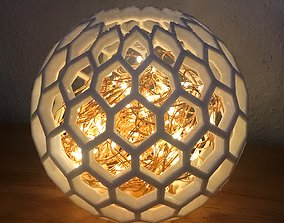 3D printable model dprinting Shadow Light Lamp - hexagon
