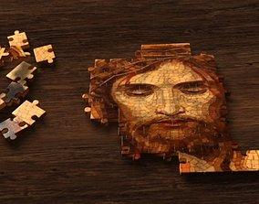 3D model animated Jesus puzzle