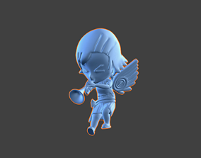 3D print model Trumpet Chibi-Angel