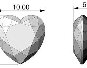 Heart gemstone 3D printable model