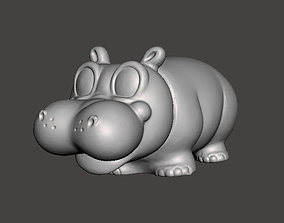 PIPPO HIPPO Hugghies Lines mascot 3D print model