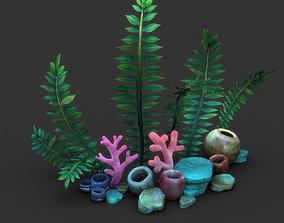 Cartoon Seaweed Set 3D