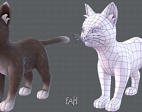 3D asset Cat Cartoon V03