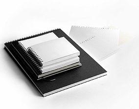 3D Notebooks Set office