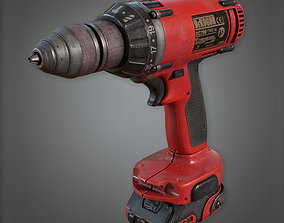3D asset Electric Drill - CNST - PBR Game Ready