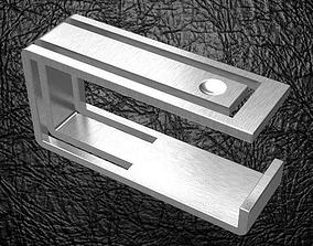 3D printable model two fingers square modern elegant ring