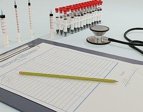3D asset Medical doctor kit