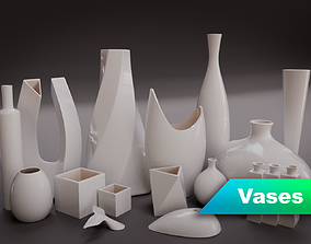 Modern Vases Collection 3D