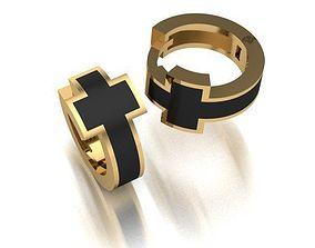 3D print model painted cross earrings