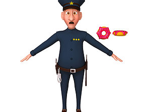 3D Policeman Cartoon