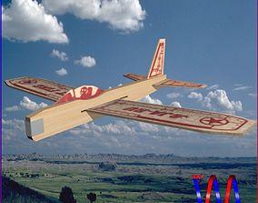 3D model Balsawood Glider 002