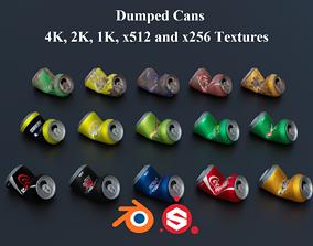 Dumped Soda Cans PBR 3D asset