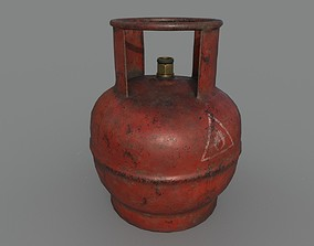 Gas bottle 3D asset realtime