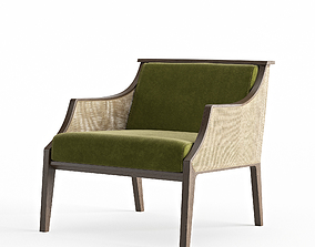 Porada Liala Straw Armchair 3D model