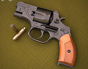 3D model OTs-38 Stechkin silent revolver
