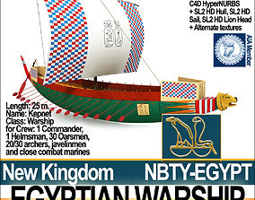 3D model Ancient Egypt Warship Kepnet NK