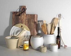 Composition of Kitchen Utensils 3D