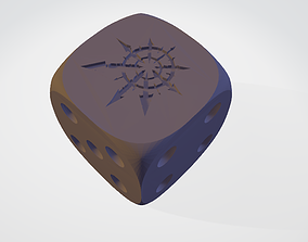 3D printable model CHAOS 16 MM DICE FOR 40K
