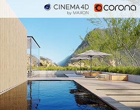 3D Corona - C4D Scene files - Resort Exterior