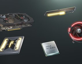 3D asset PC Hardware Kit - PBR