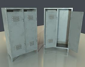 Painted Metal Locker 3D model