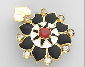Sunflower pendant 3D print model