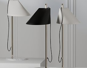 Louis Poulsen ALUMINUM BRASS Table Lamp 3D