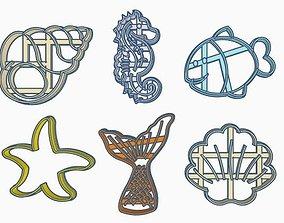3D printable model Sea Cookie Cutter Set