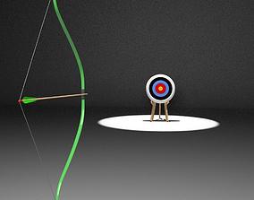 3D Animated Archery Bow Shooting Arrow