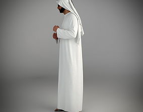 3D model Traditional arab man from dubai posed standing