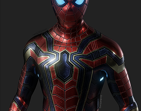 3D asset VR / AR ready Iron Spider Avengers Suit Rigged