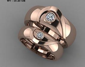 3D printable model Wedding Couple heart rings