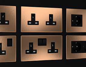 3D D and R Electrical Sockets and Switches