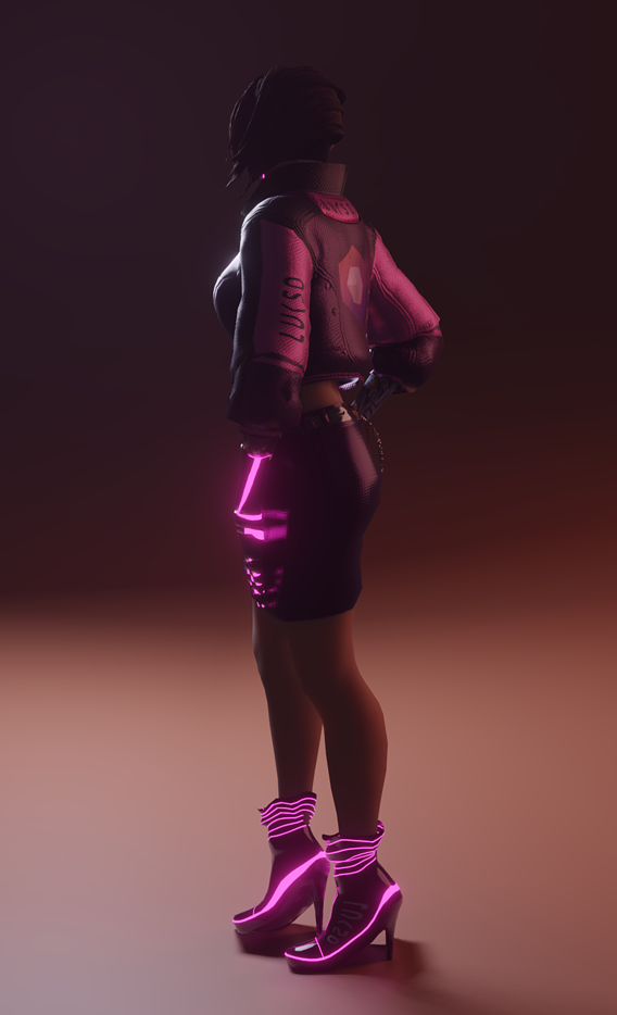 A semi-real VR engine optimized 3d character