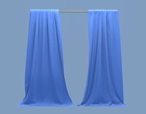 3D model Curtain linen