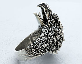 Screaming eagle ring 3D print model