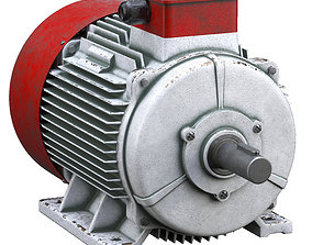 Electric motor 3D model steel