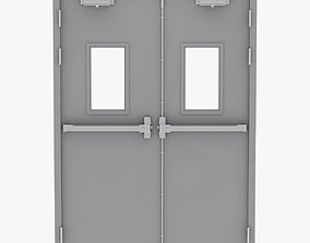 Double Fire Exit Door 3D
