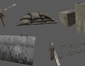 3D model Military Barricade Pack