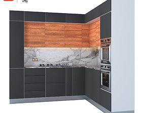 kitchen 3D asset rigged