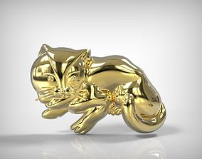 Jewelry Golden Part Cat Shaped Detail 3D printable model