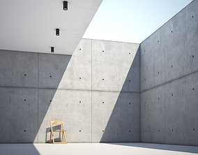 3D model Form casted concrete wall texture large surface