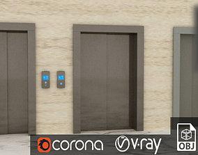 Elevator Doors 3D model